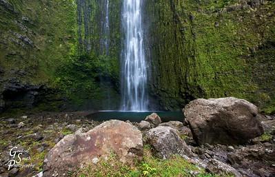 Hi'ilawe Waterfall in Waipio Valley
