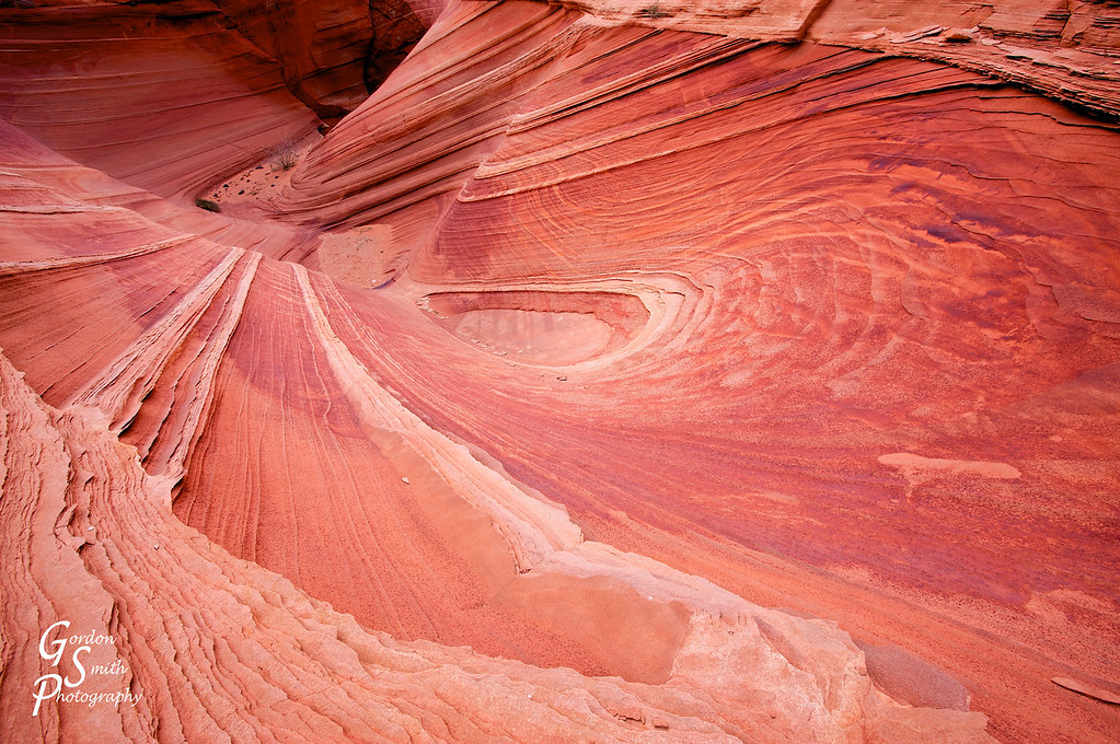 Sandstone funnel from the North Teepees of Coyote Buttes