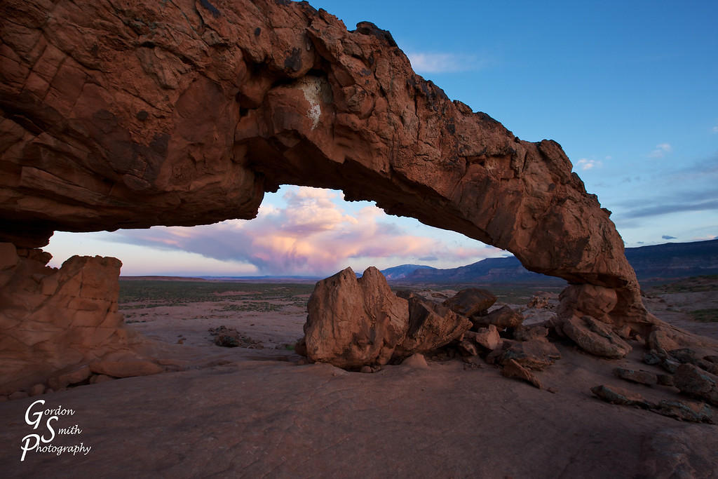 Nuclear Cloud Under Sunset Arch