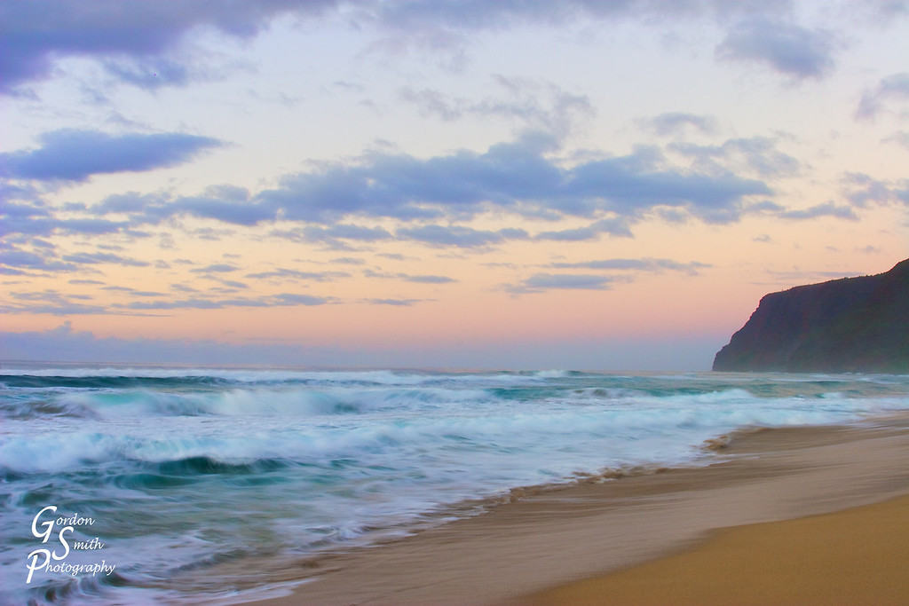 Pastel Tempest<br /> A shot taken shortly after sunset on Polihale Beach