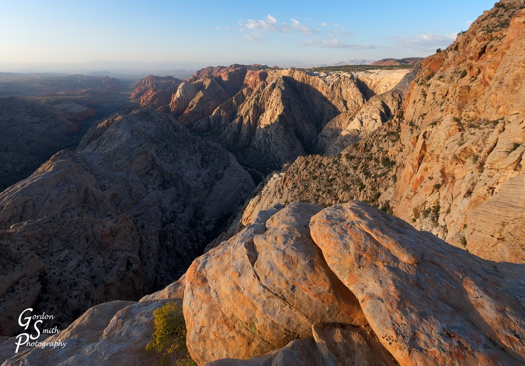 sunrise at Snow Canyon Overlook, Utah