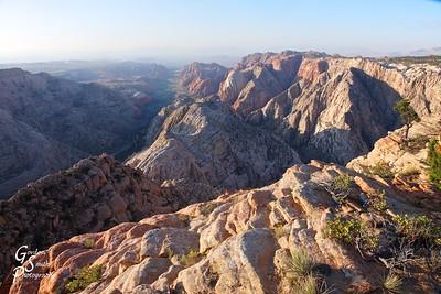 Snow Canyon Overlook Morning Rocks
