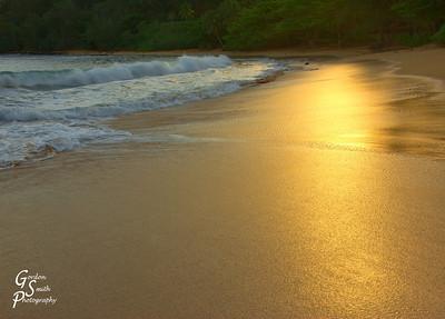 Moloa'a Beach:  Sunrise on the Sand